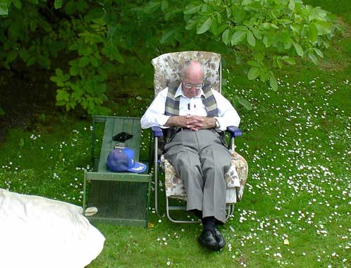 sleeping grandad