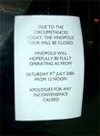 London's Shut Sign 1