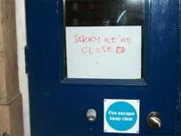London's Shut Sign 2