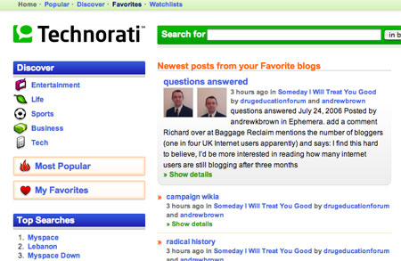 Technorati version 3