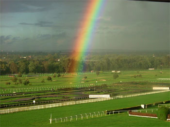 Rainbow over Sandown Park