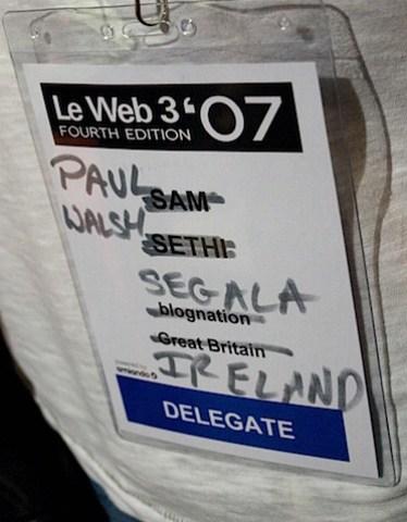 Sam Sethi's badge