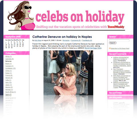 Celebs on Holiday new look