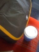 Coffee on the train