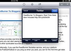 Tweeting from an iPad