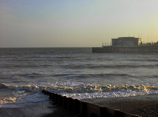Worthing Pier from the beach
