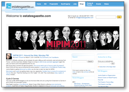 The MIPIM blog from Estates Gazette