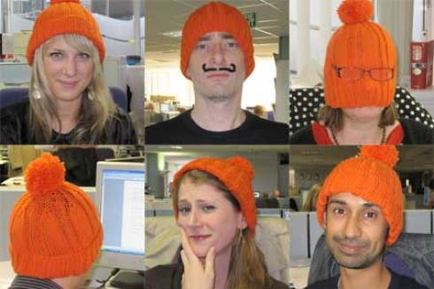 Community Care journalists in silly hats