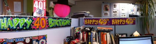 40th Birthday Office