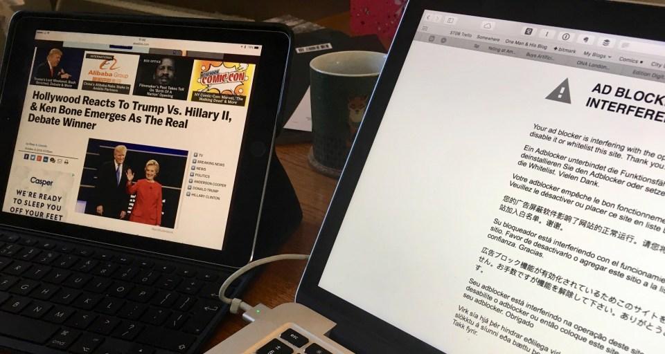 iPad and Mac in ad-blocking scandal