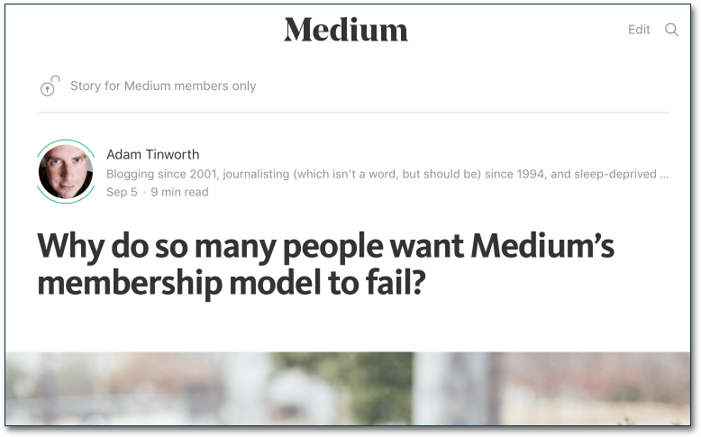 Medium membership - my first post