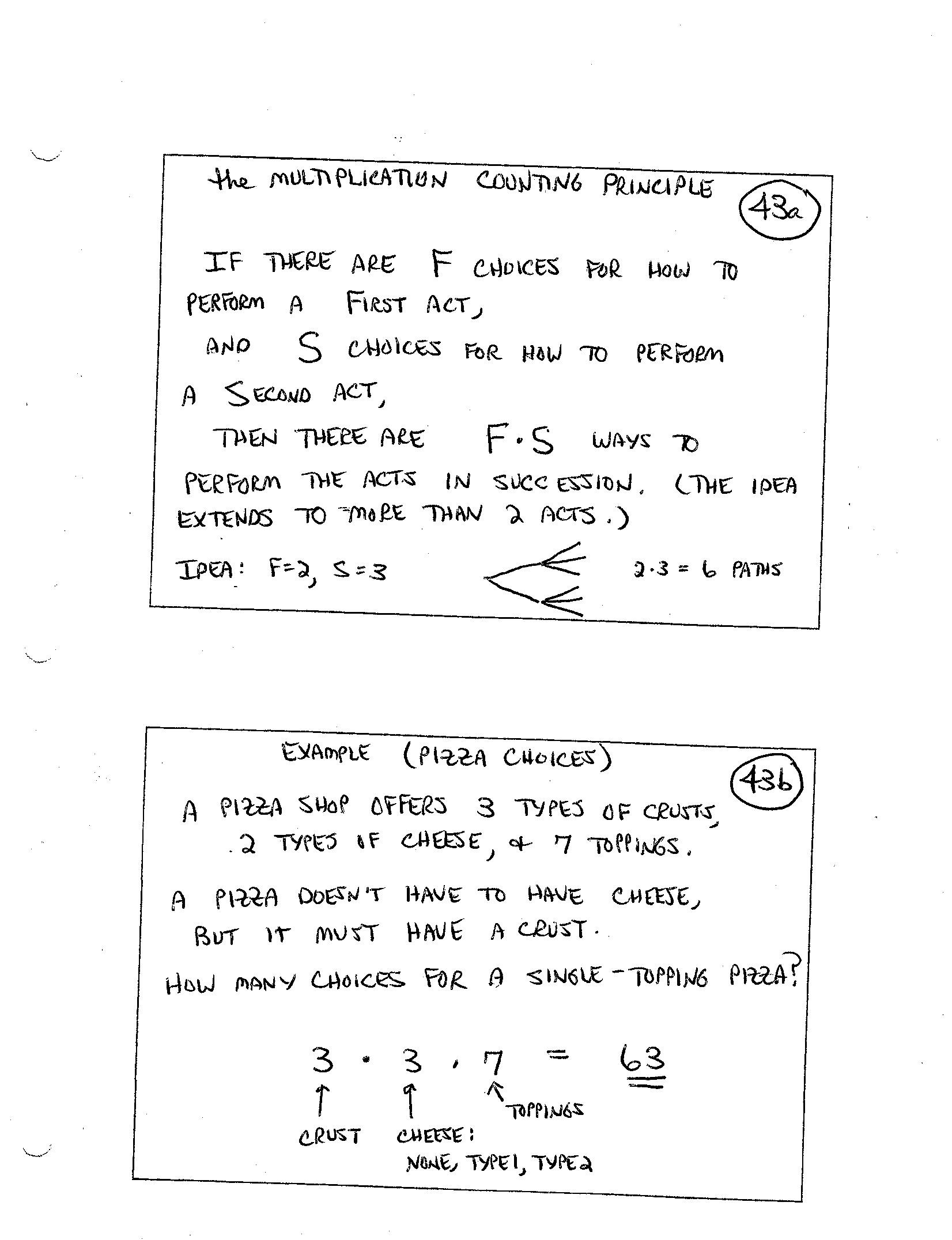 Finite Mathematics Daily Syllabus