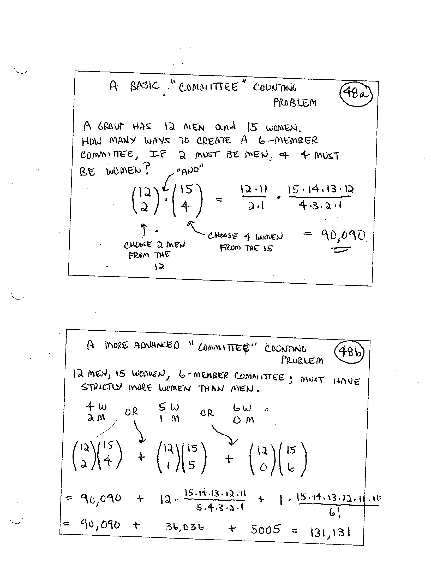 Finite Math Worksheet