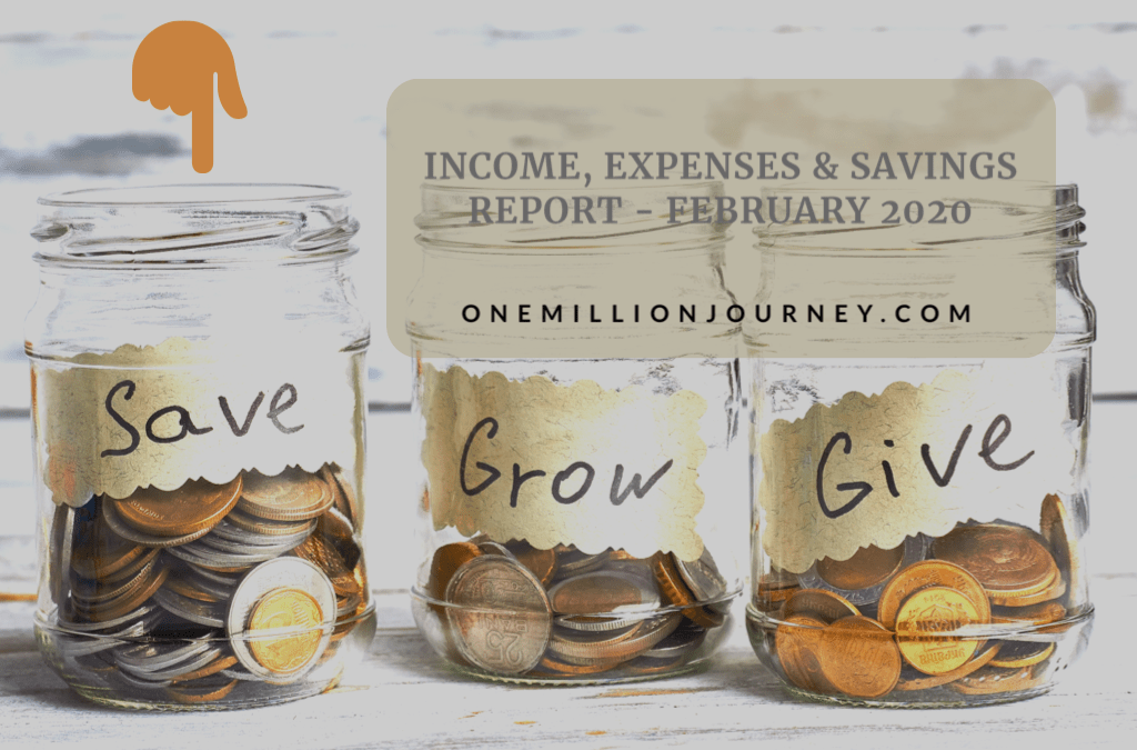 income, expenses & savings february 2020 one million journey