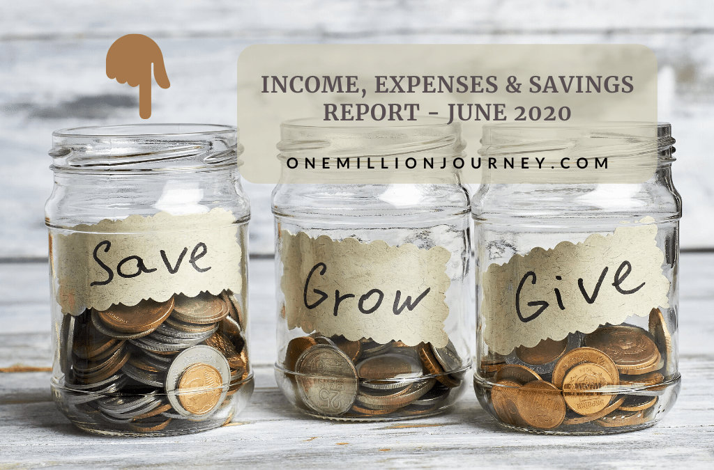 income expenses savings report june 2020
