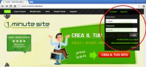 One minute site - Creare sito web