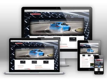 sito web con template responsivo