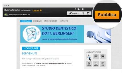 esempio di sito per dentista