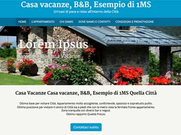 sito web per casa vacanze