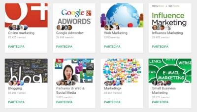 esempi communities googleplus