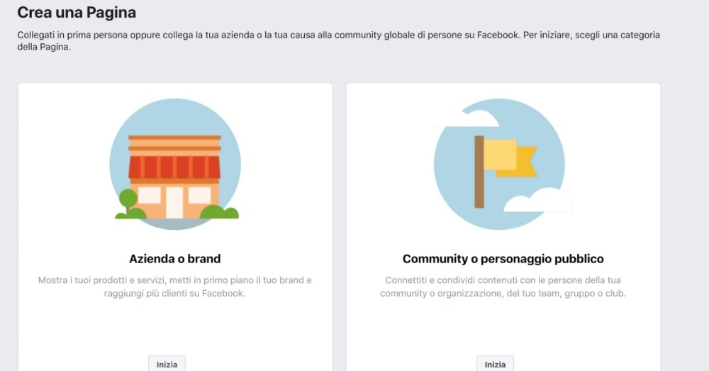 Creare un profilo facebook aziendale
