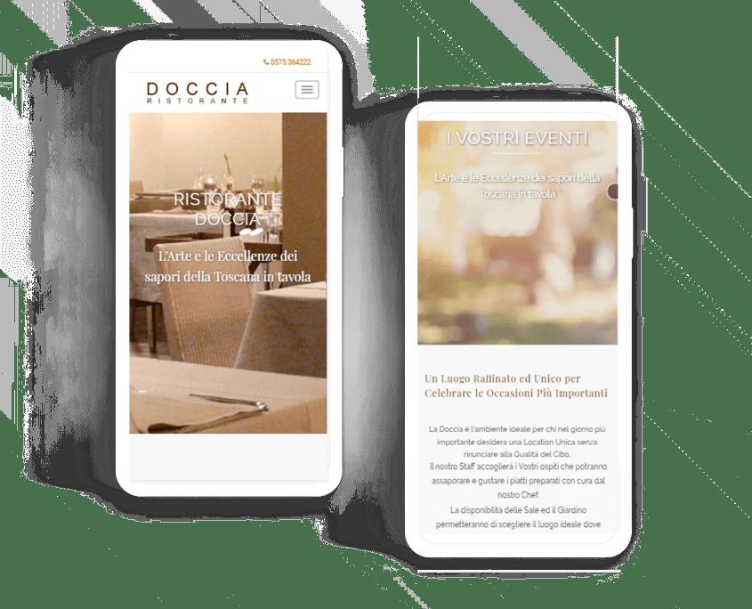 crea sito web mobile per ristorante