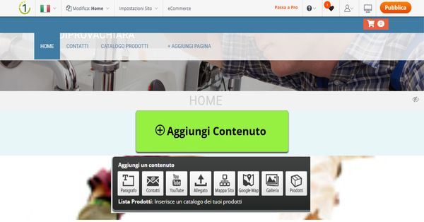 come inserire widget su one minute site