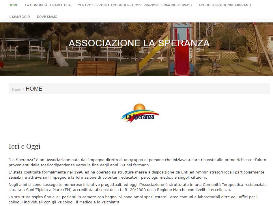 sito per associazione no profit