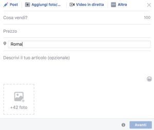 Vendere nei gruppi su Facebook