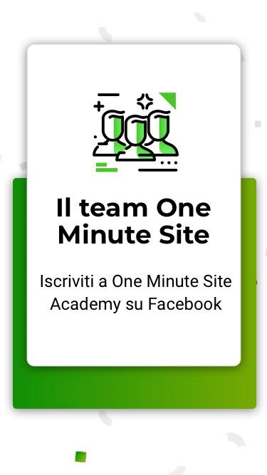 Creare un ecommerce hai a disposizione il team One Minute Site