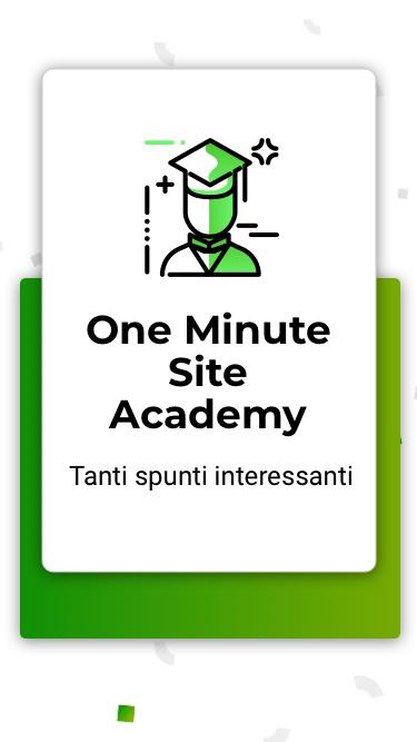 Creare un ecommerce hai a disposizione la'Accademy di One Minute Site