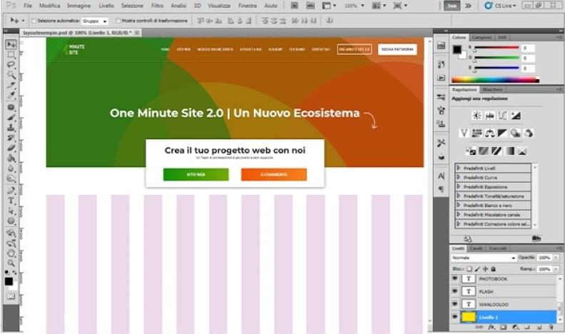 Crea una pagina web con Photoshop banner