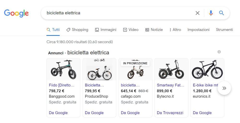 Box annunci Google Sopping