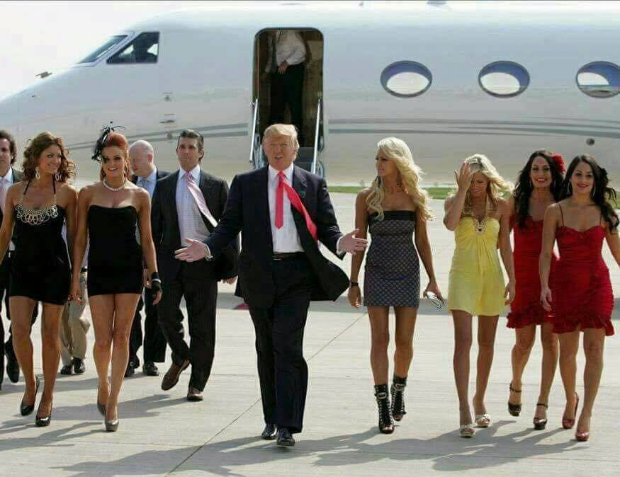 Trump and chicks