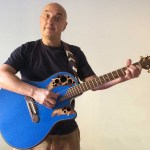 Alberto Biraghi and his Ovation Adamas Blue Boy