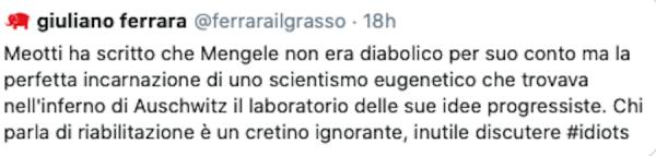 Ferrara, il Foglio e Mengele