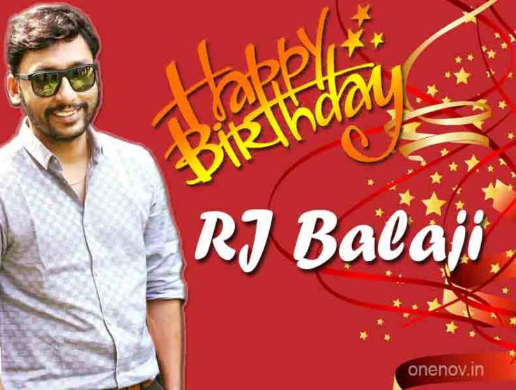 RJ Balaji Birthday Greetings