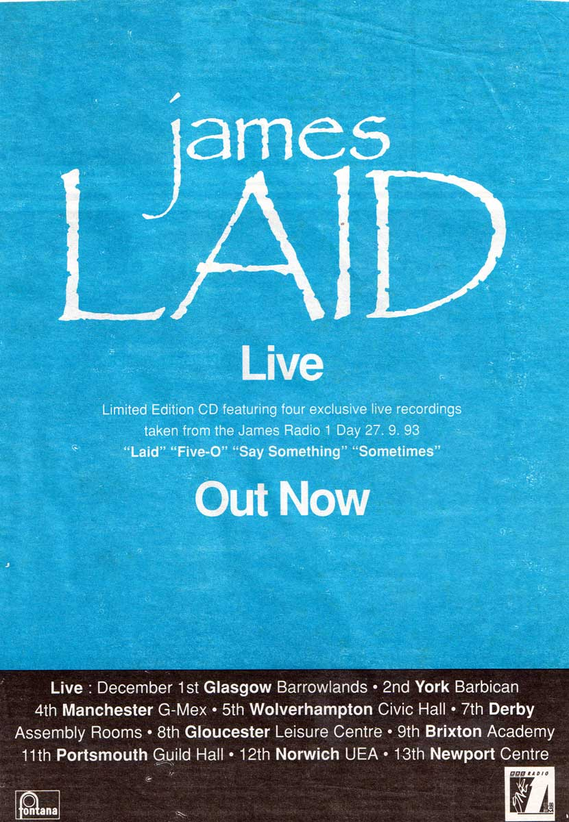 One Of The Three | Laid- The James Band Archive