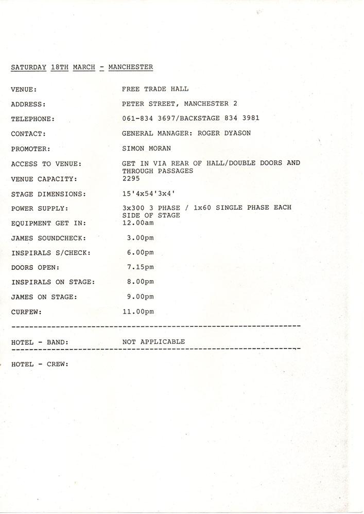 JUMPER inspired band tour THE CHARLATANS 1989 SWEATER SWEATSHIRT