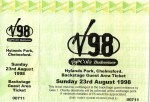 Chelmsford V Festival - 23rd August 1998