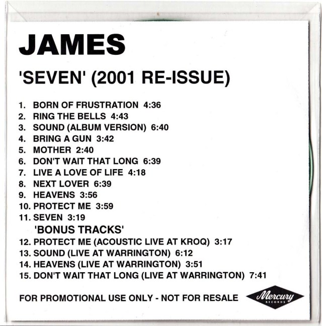 Seven Reissue CDR Promo