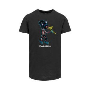 ONE AND ONE MAKES TWO - Longfit T-shirt - Trombone Monkey - BLK