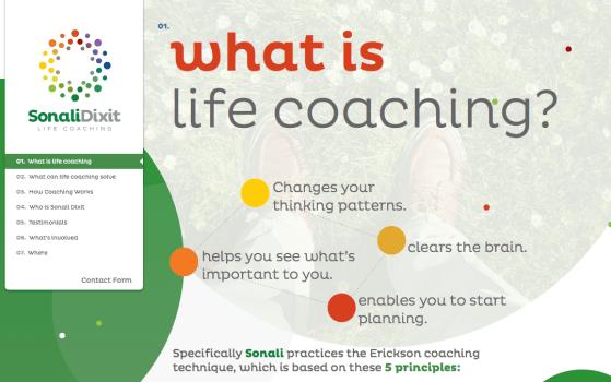 Sonali Dixit life coach website