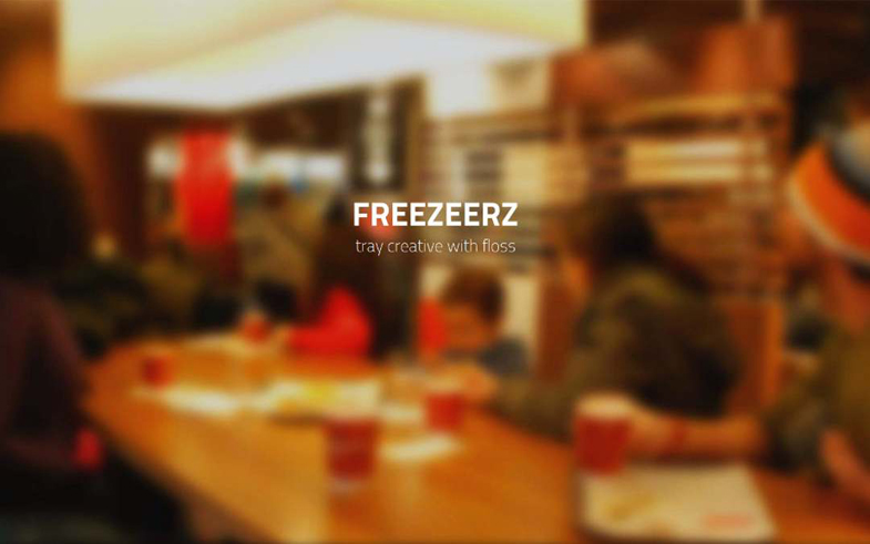 Freezeerz – Tray creative with Floss personal one page site.