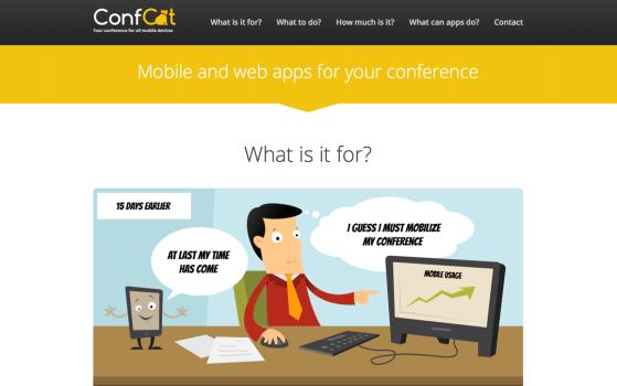confcat one page site