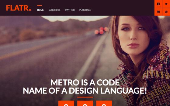 Flatr - Metro Parallax Single Page Coming Soon