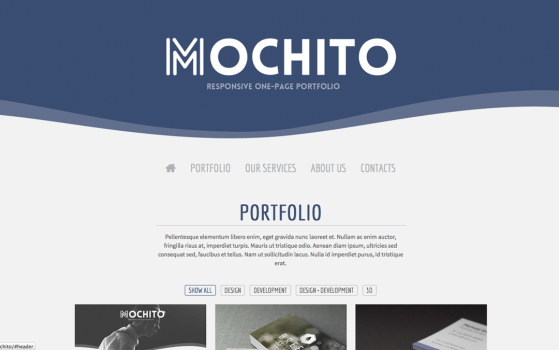 Mochito is a clean and modern single-page portfolio