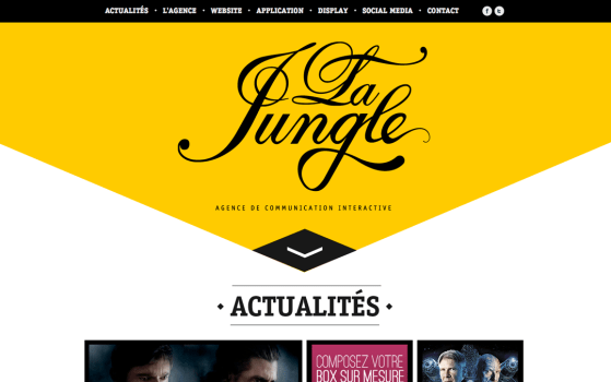 La Jungle yellow one page websites