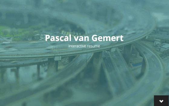 Pascal van Gemert onepage