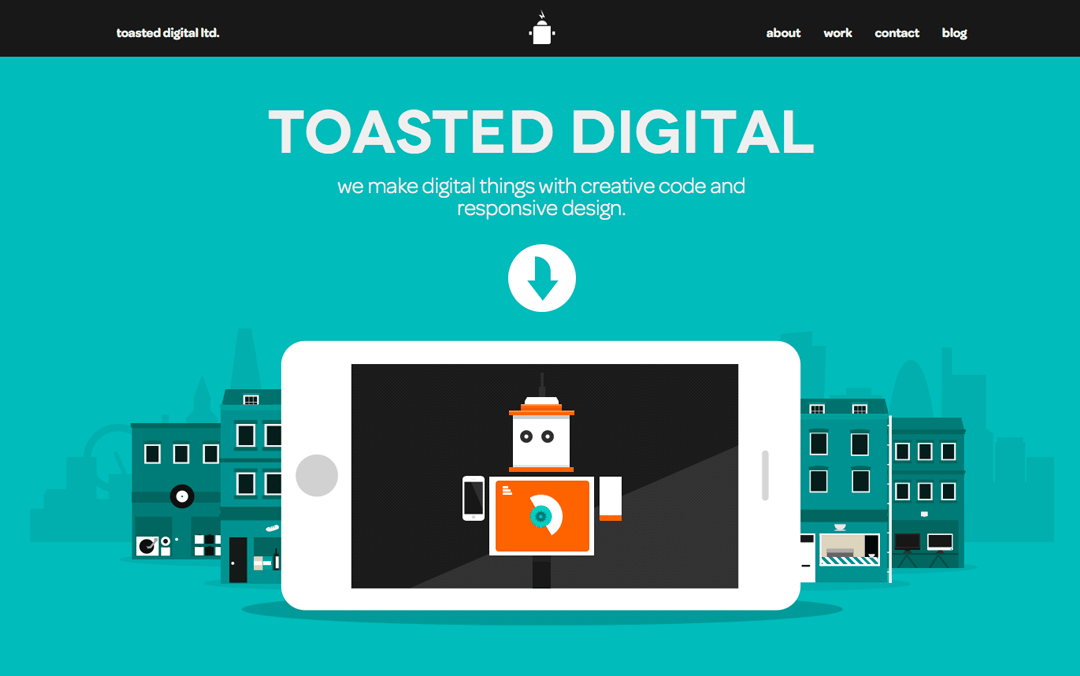 the best onepage website of the day